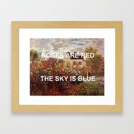 3 Minute Garden Framed Art Print