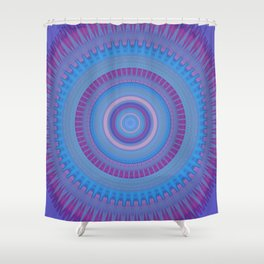 Electric Purple Blue Mandala Shower Curtain