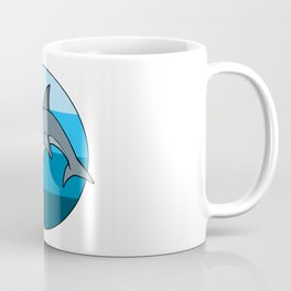Laser Dolphin 1980s Retro Sci-Fi Design Coffee Mug
