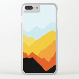 Watercolor landscape I Clear iPhone Case