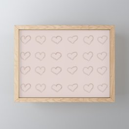 Pastel Hearts I Framed Mini Art Print
