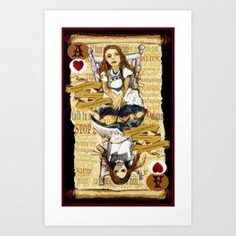 'Alice' (Alice in Steampunk Series) Art Print