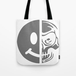 Black Skull Smiley Face Dark Tote Bag