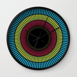 Colorful illusions Wall Clock