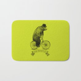 Bears on Bicycles (Lime) Bath Mat