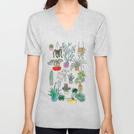 Houseplants Unisex V-Neck