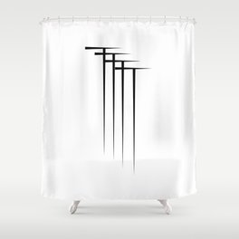 """"""" Eclipse Collection"""" - Minimal Letter T Print Shower Curtain"""