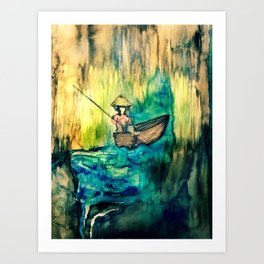 Tales on the Mekong Delta Art Print