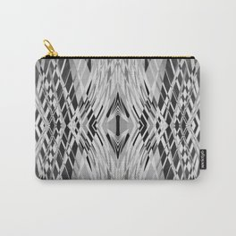 PRETTY BLACK & WHITE LINE PATTERN Carry-All Pouch