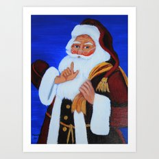 Ho Ho Ho  / Christmas card Art Print