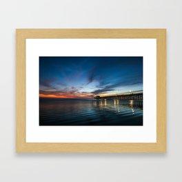 Newport Beach Sunet. Framed Art Print