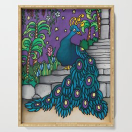 Felipe - a flamboyant peacock Serving Tray