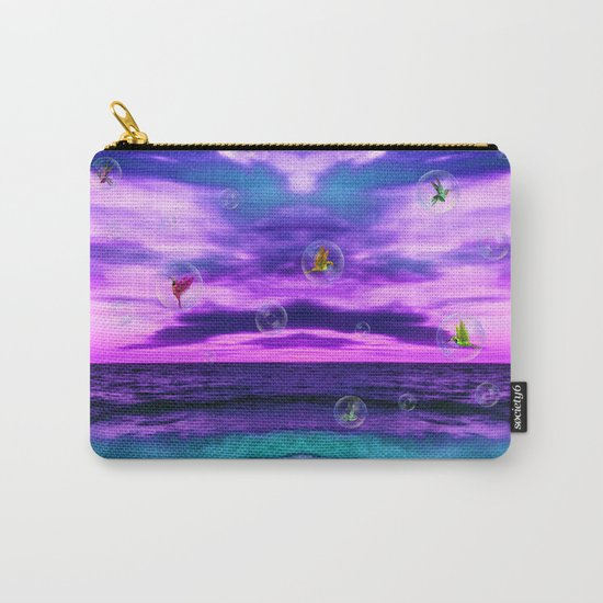 Birds in  bubbles Carry-All Pouch