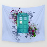 doctor who Wall Tapestries featuring Doctor Who by Laain Studios