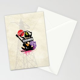 Censored Sexy Lady with mixed Street Art Stationery Cards