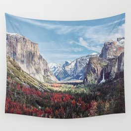 Tunnel View Yosemite Valley Wall Tapestry