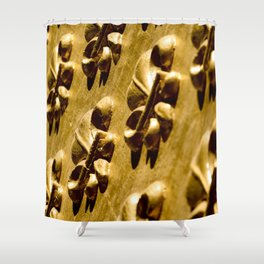 Parisian Gold Fluer De Lis Embossed Design Shower Curtain
