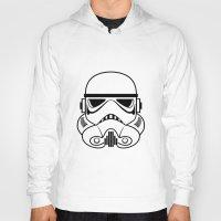stormtrooper Hoodies featuring Stormtrooper by Nicole Dean