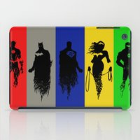 justice league iPad Cases featuring Justice Silhouettes by iankingart