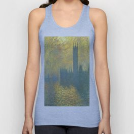 Claude Monet's Parlament in London Unisex Tank Top