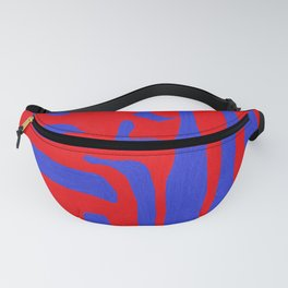 Abstract in Blue and Red I Fanny Pack