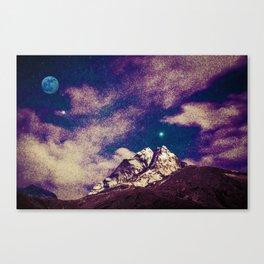Himalayas under stars Canvas Print