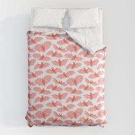 Cute pink bats Comforters