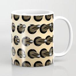 Black On Gold Latex Spikes Coffee Mug