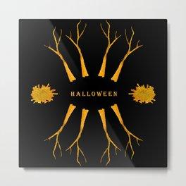 Halloween frame Metal Print