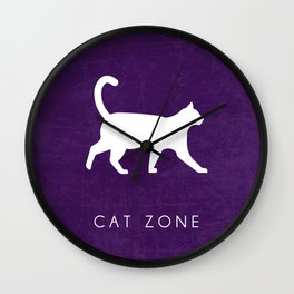 CAT ZONE Wall Clock