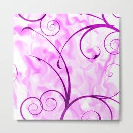 Design RAMONA,pink Metal Print