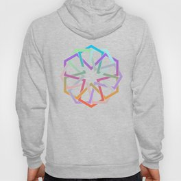 Geometric Art - Hexagon Rose Hoody