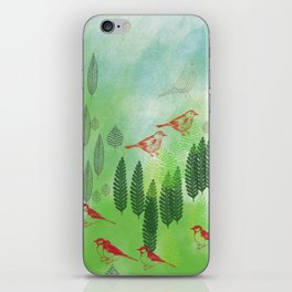 Birds and Leaves iPhone Skin