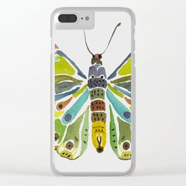 Colorful Butterfly Clear iPhone Case