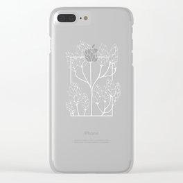 Leaf-like Sumac in Grey Clear iPhone Case