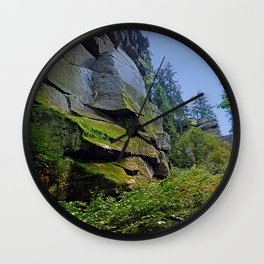 Mountain, granite rocks and pure nature | landscape photography Wall Clock