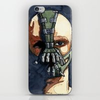 bane iPhone & iPod Skins featuring Bane by Blue Moon Hippie