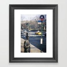 Abe's Bus Stop Framed Art Print