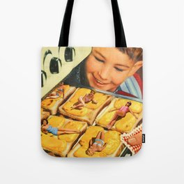 Girls on toast Tote Bag