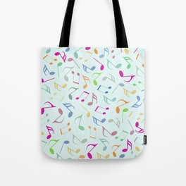 Music Colorful Notes Tote Bag