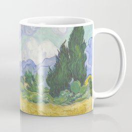 A Wheatfield with Cypresses by Vincent van Gogh Coffee Mug