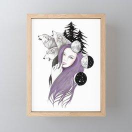 Three Moons Framed Mini Art Print