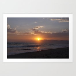 Sunset at Point Dume Art Print