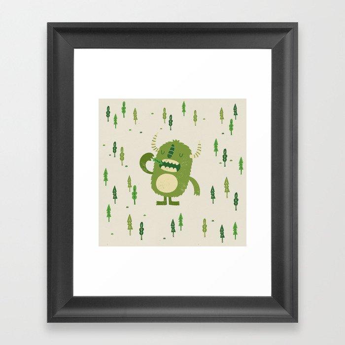 the tree muncher Framed Art Print