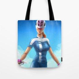 Cyclist girl Tote Bag