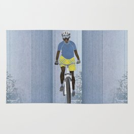 Bicycle girl 1 Rug