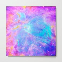 Orion nebulA : Bright Pink & Aqua Metal Print