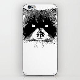 Black Metal Raccoon iPhone Skin