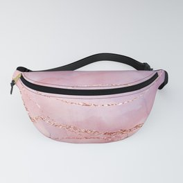 Blush and Purple Sky with Rose gold flashes Fanny Pack