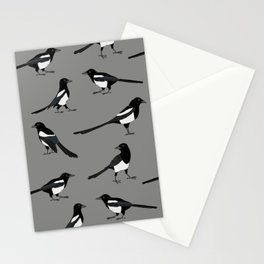 Magpie pattern Stationery Cards